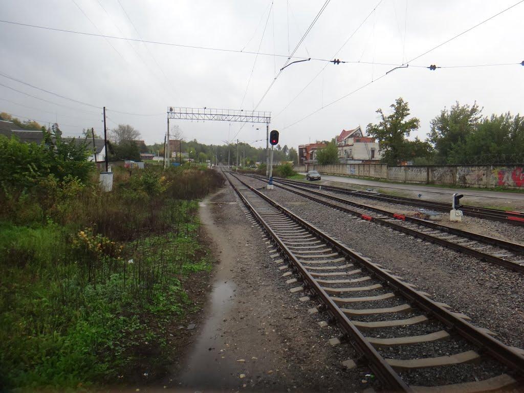 Станция Красноармейск. Вид на восток, Привокзальный