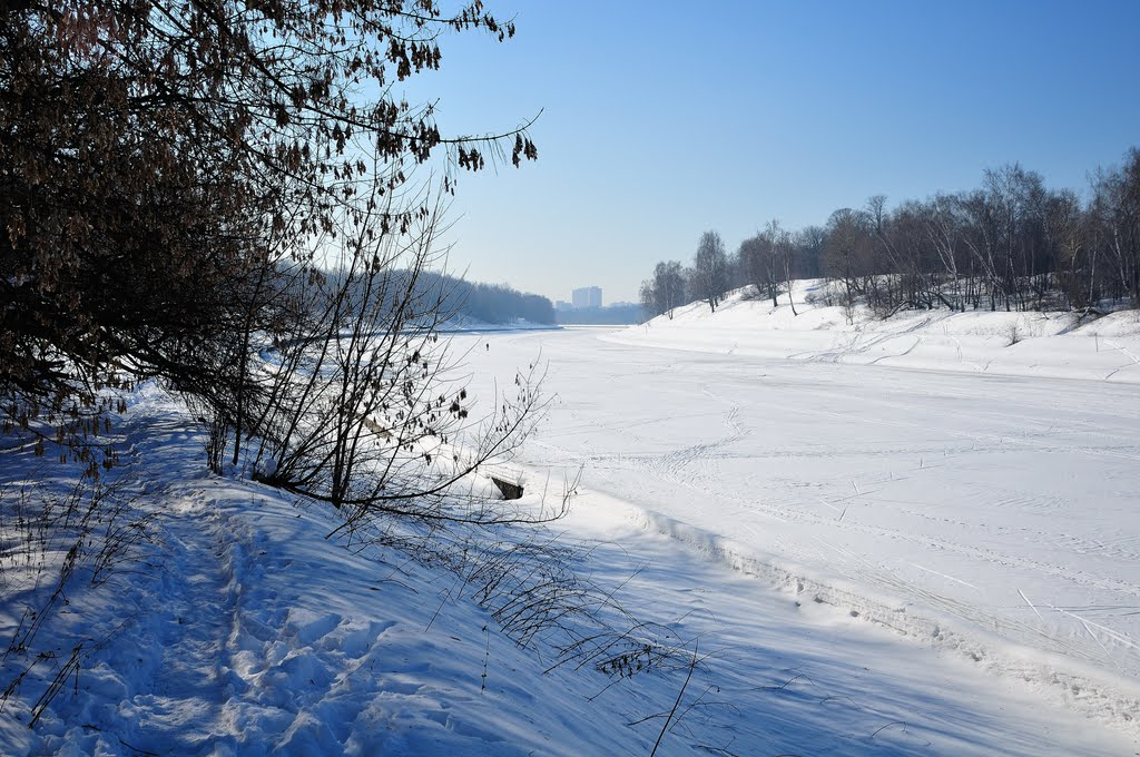 Вид на Старбеево от деревни Гнилуши, Старбеево