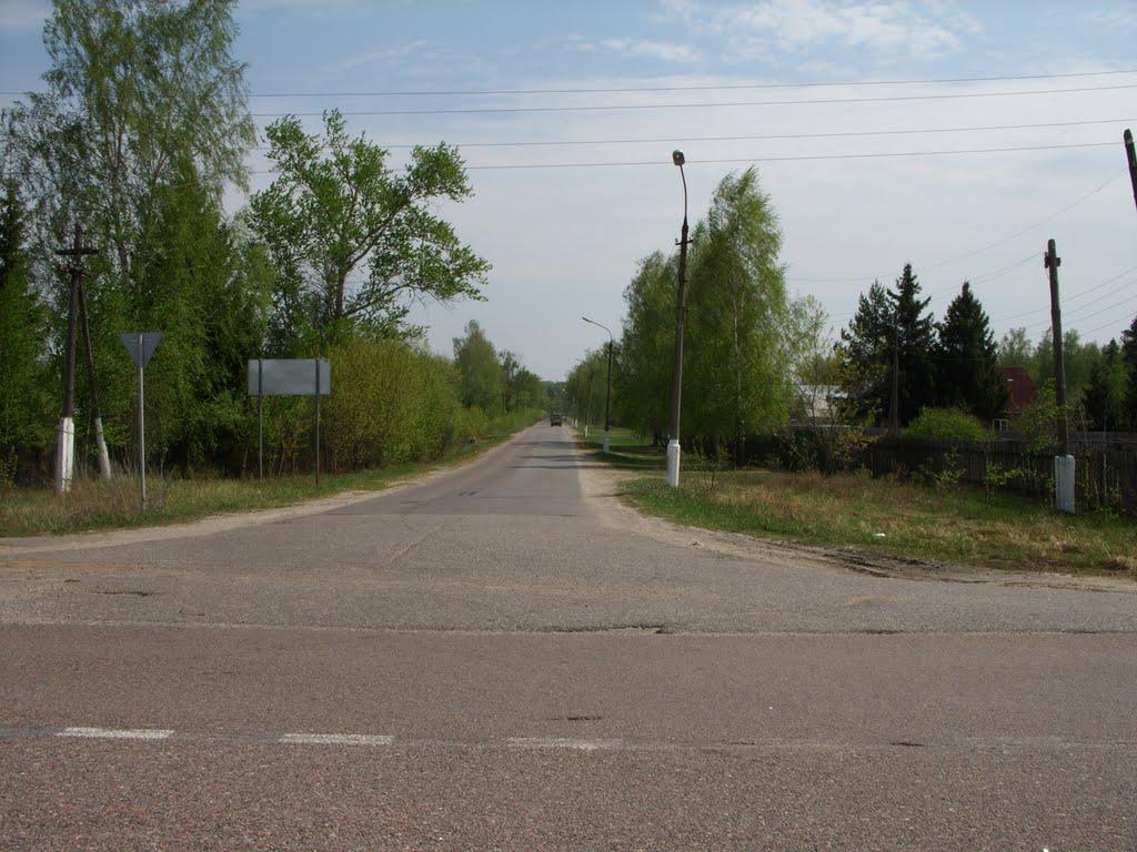 Отсюда идёт главная улица. Here Starts the Local Main Street, Туголесский Бор