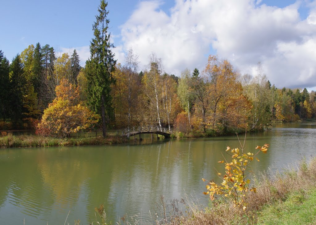 Усадьба Абрамцево. Мостик на нижнем пруду. 09.2012., Хотьково