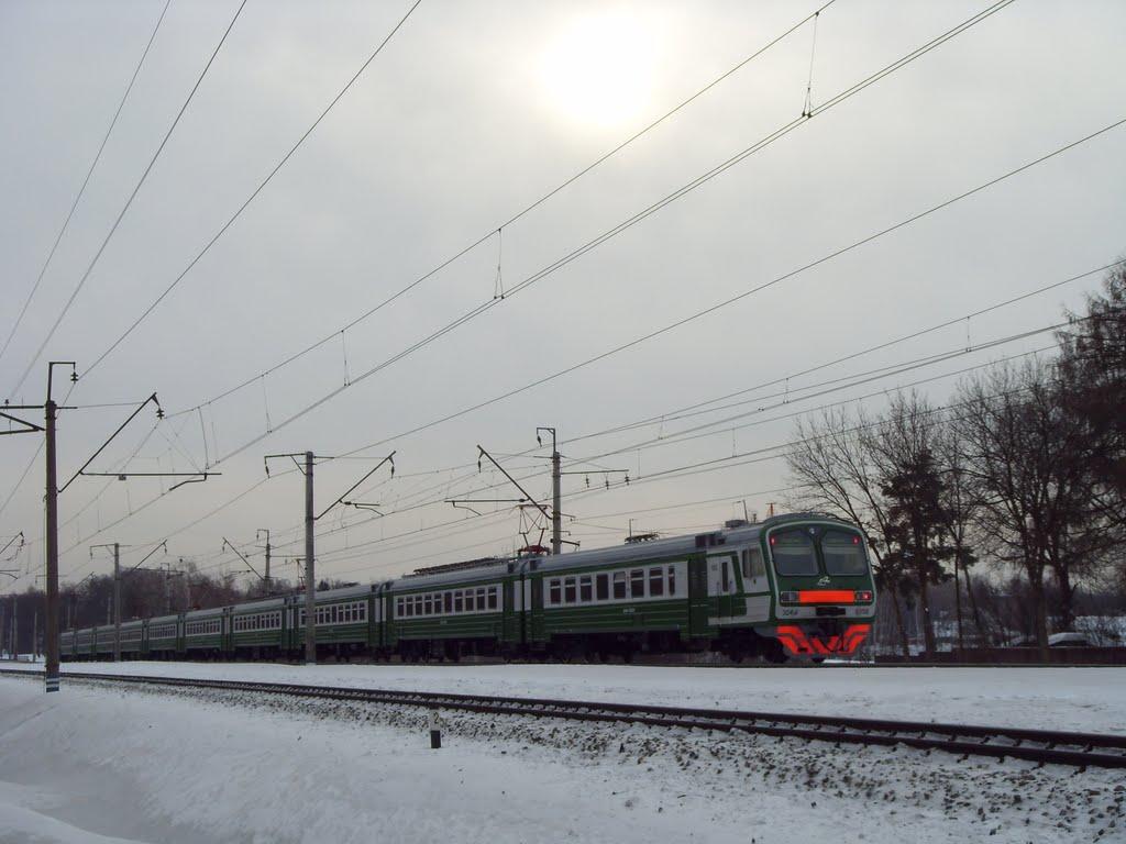 ЭД4М на перегоне Тарасовская - Клязьма, Черкизово