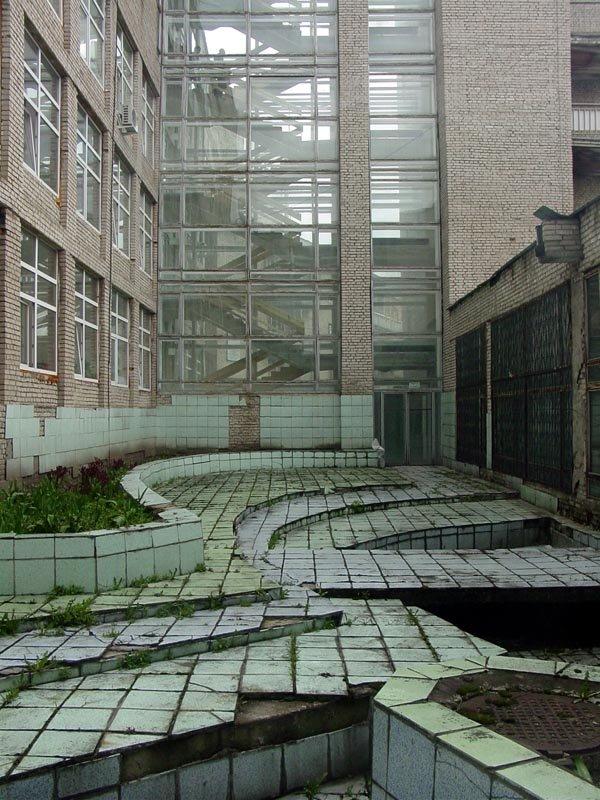 Courtyard in Chernogolovka, Черноголовка