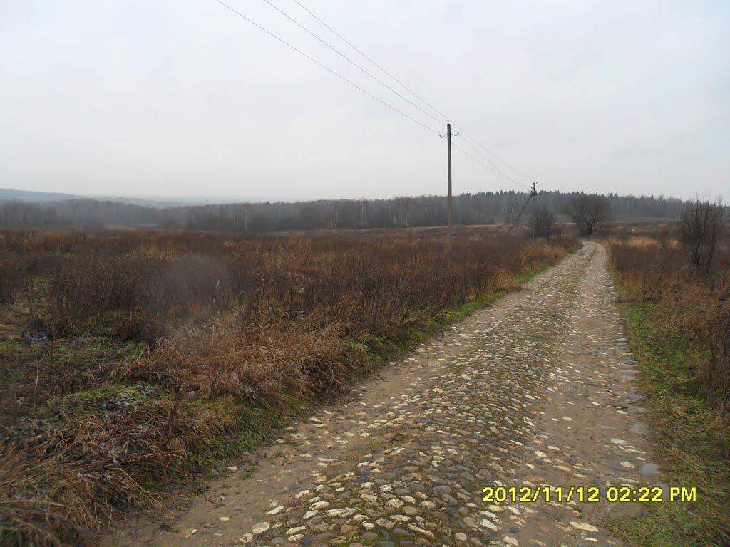 Старинная мощёная дорога. м, Шарапово
