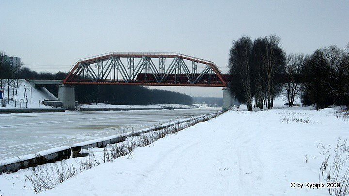 Eisenbahnbrücke bei Khlebnikowo, Шереметьевский