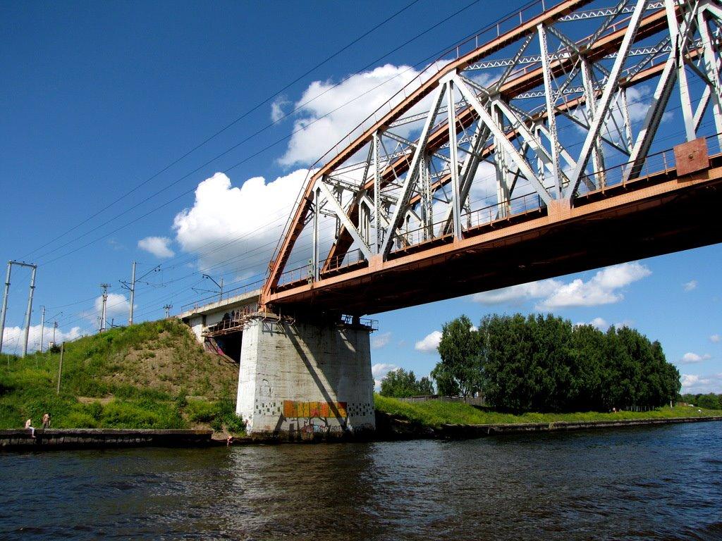 Canale Moskwa - Volga/Railroad bridge 11.07.2009, Шереметьевский