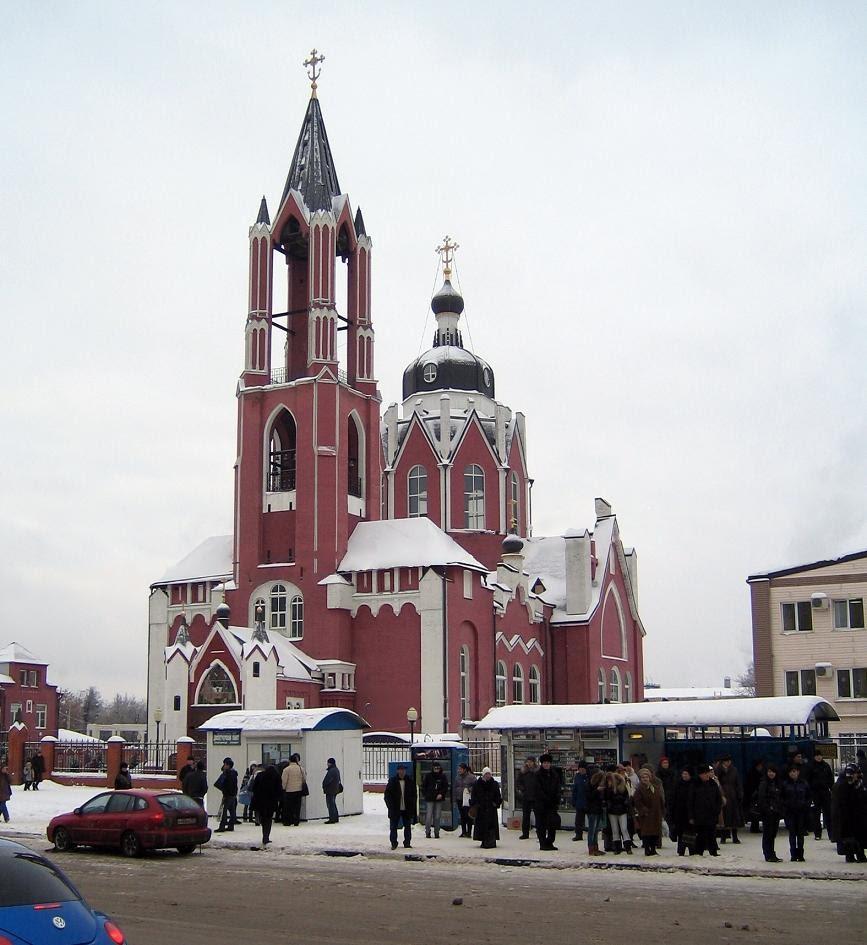 Собор Троицы Живоначальной. Церковь сооружена в 1909-1916 в память рождения цесаревича Алексея. Щелково, Щелково