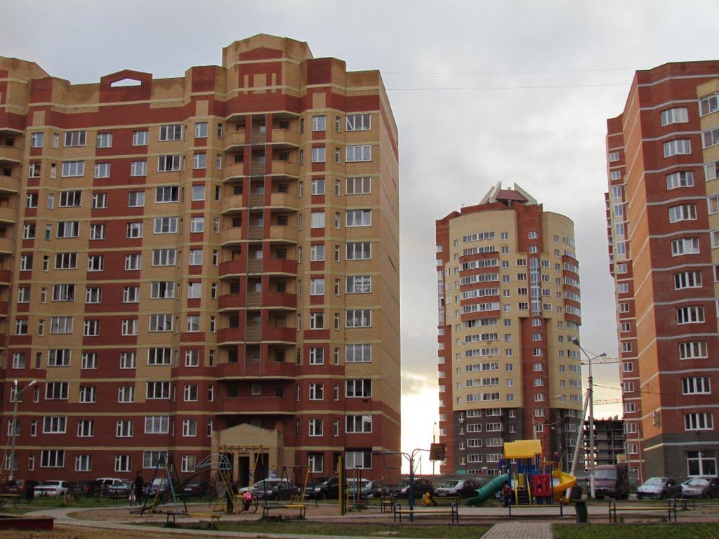 Двор новостроек по ул.Ялагина/Court yard of new buildings on street Jalagina, Электросталь
