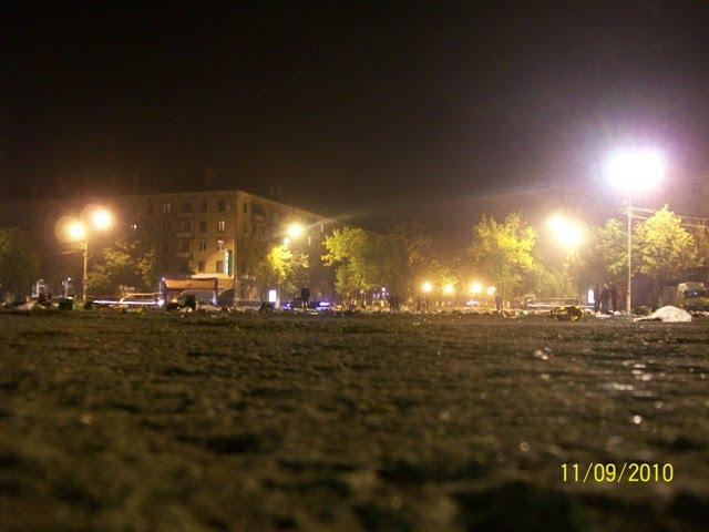 Ночь.Фонарики., Электросталь