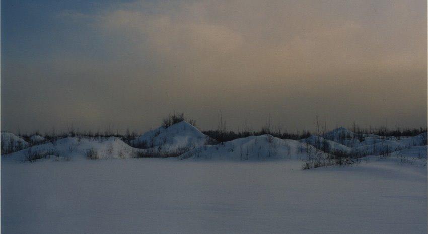 Заброшенный карьер зимой, Электроугли