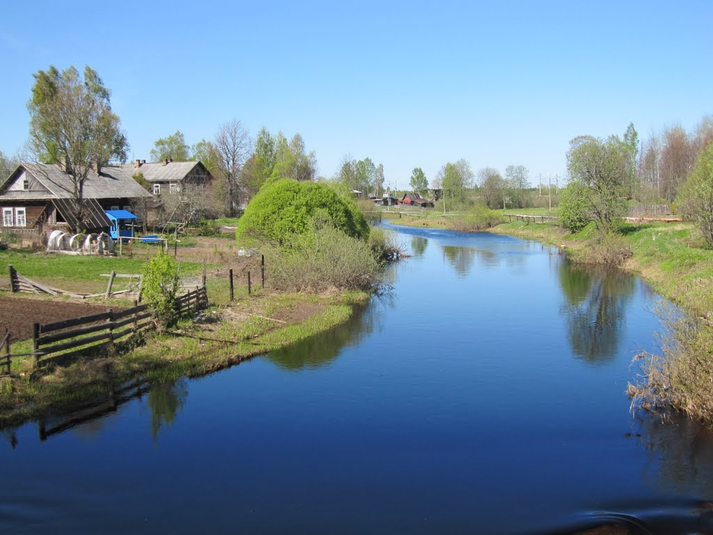 river Bolshaya Vishera in springtime, Большая Вишера
