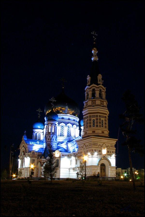 Omsk. Uspenija Presvjatoj Bogoroditsys cathedral., Омск