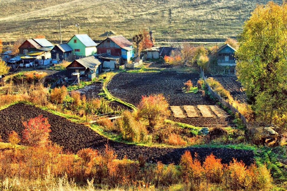 Осенью в пригороде Кувандыка., Кувандык