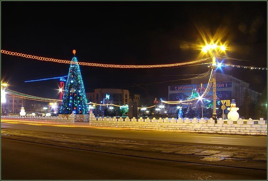 Ёлка 2010 (Комсомольская площадь), Орск