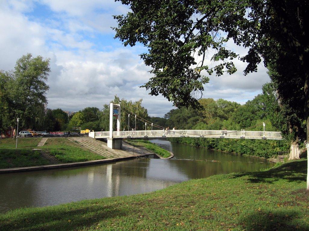 Подвесной мост через Орлик, Орел
