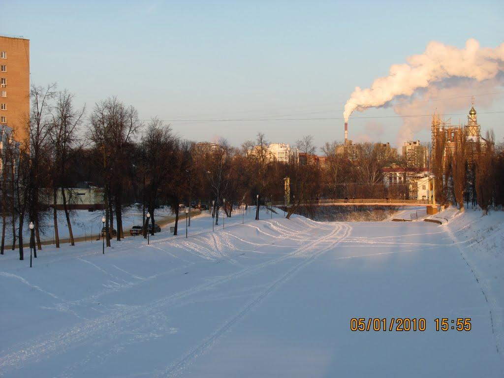 Орлик Зимой. Вид на подвесной мост., Орел