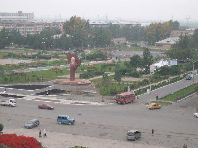г. Лучегорск, центральная площадь. вид с крыши ДК, Лучегорск