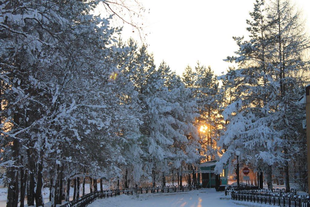 Въезд на территорию Приморской ГРЭС, Лучегорск