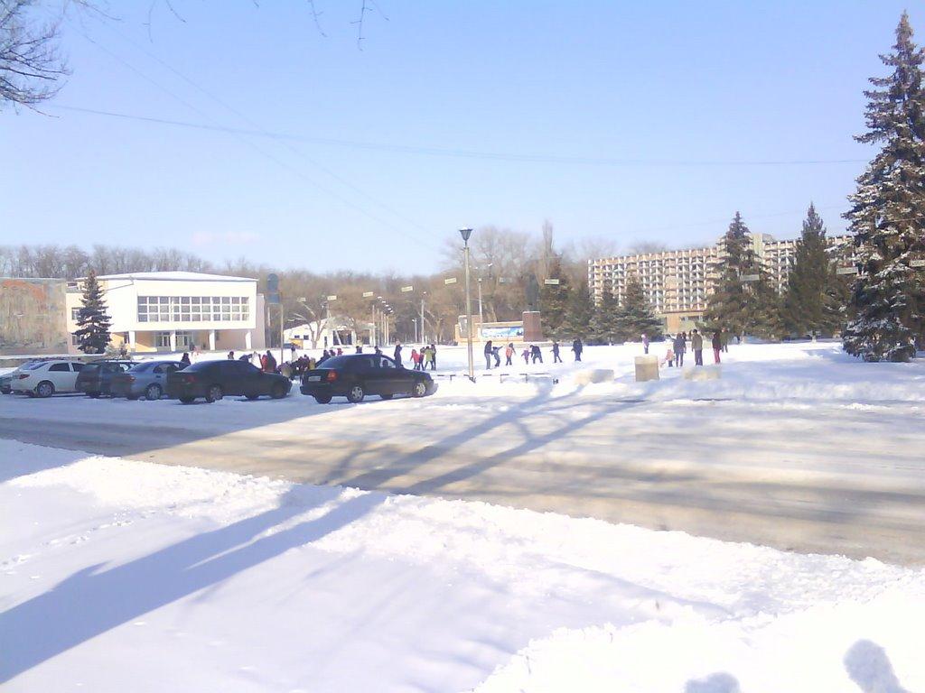 Новогодние выходные 2009, площадь, Зерноград