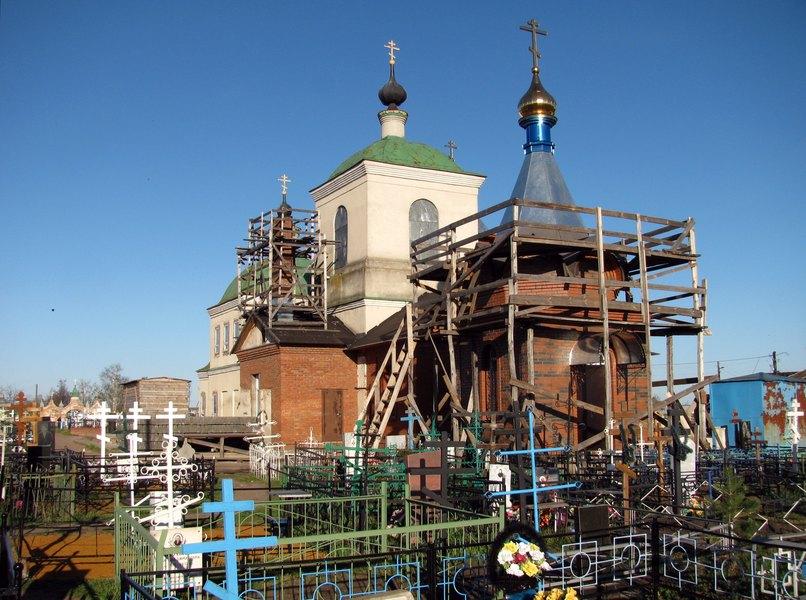 Chapel & temple @ cemetry, Сапожок