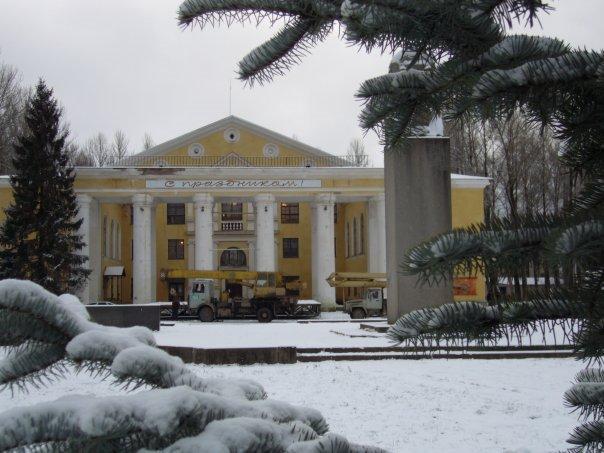 ДК. Зима., Пикалёво