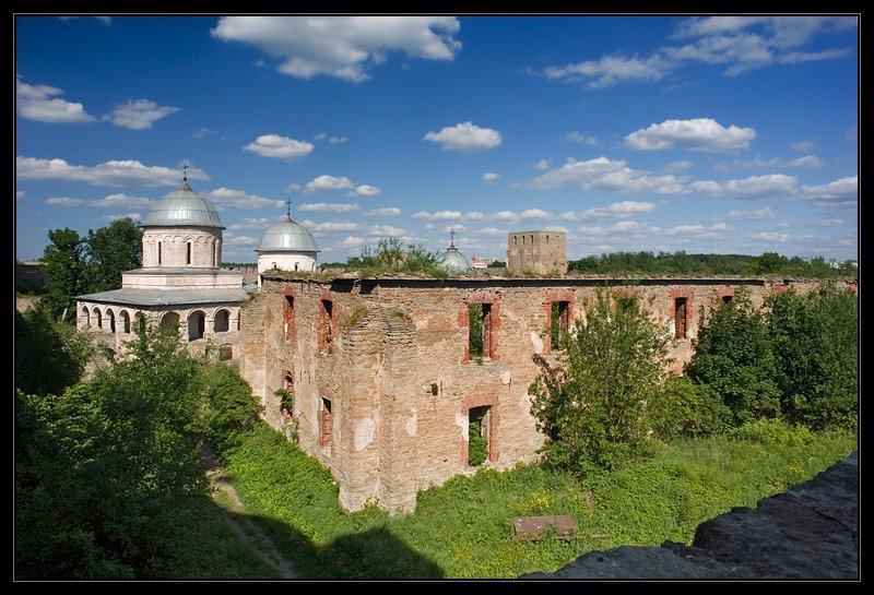 Вид со стены, Ивангород