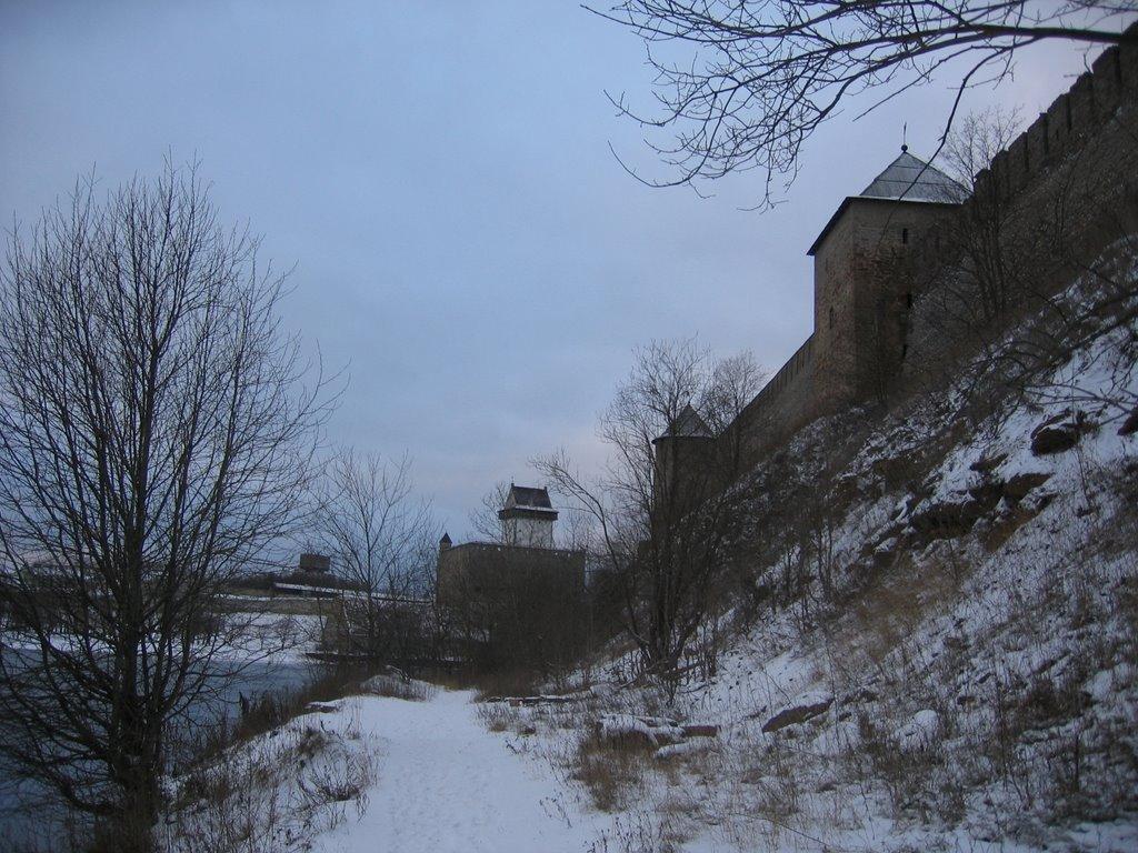 Ivangorod. German tower, Ивангород