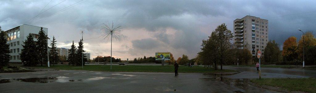 View on Lenin Pano/Панорама с видом на Ленина, Кириши