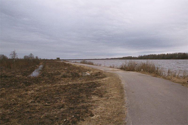 Volkhov river near town Kirishi, Кириши