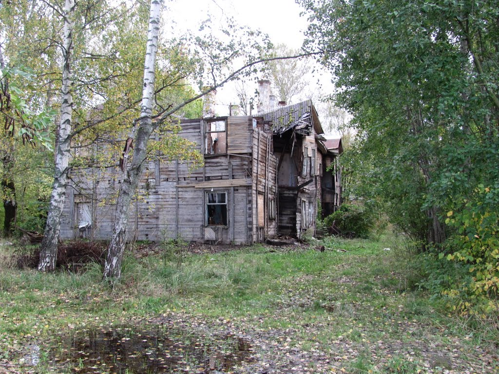 Abandoned and destroyed house, Лисий Нос