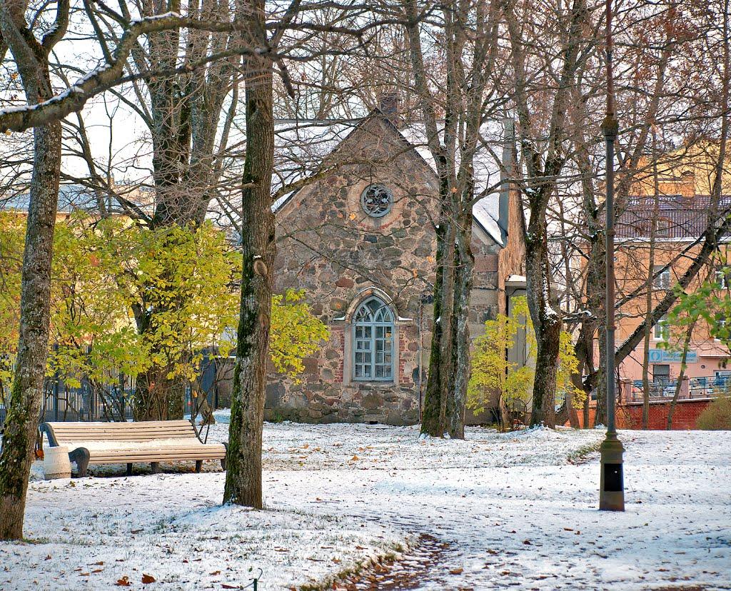 Зима началась в субботу :)  Winter began on Saturday :), Ломоносов