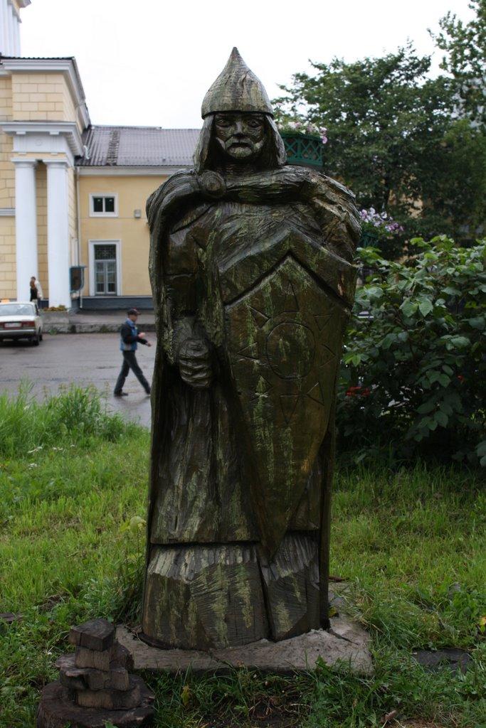 Wooden sculpture., Луга
