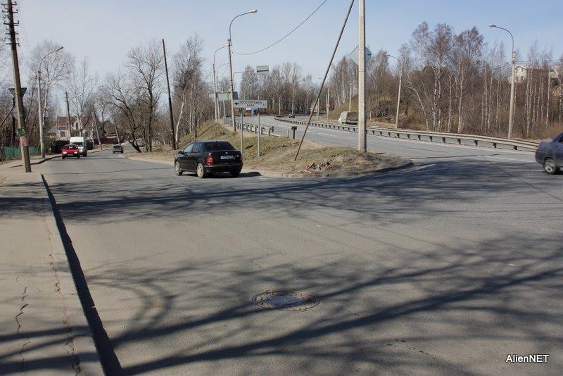Перекрёсток ул. Вокзальная Выборгское ш., Парголово