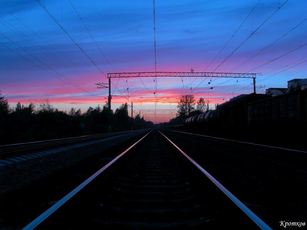 Станция Парголово, закат., Парголово