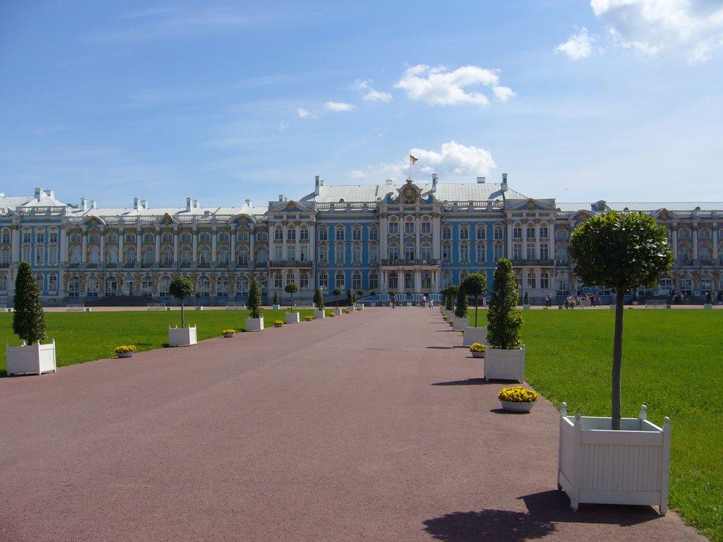 Pushkin - Katharinenpalast - in voller Pracht -, Пушкин