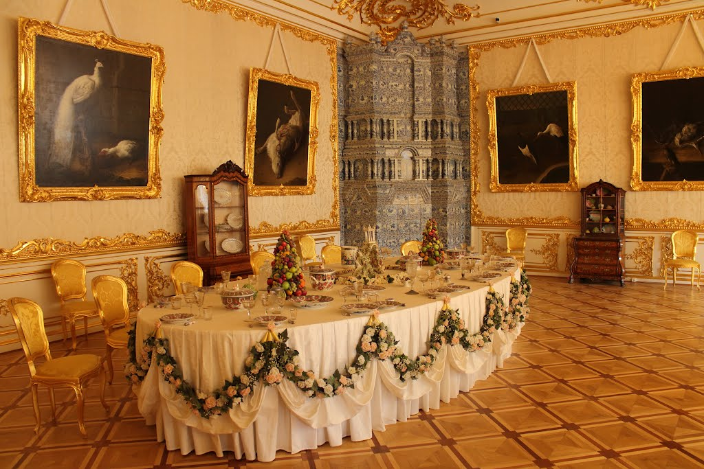 Белая парадная столовая в Екатерининском дворце, Пушкин