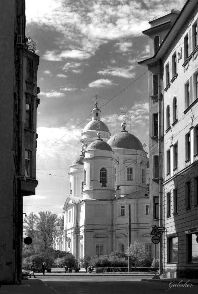 Urban View (Cathedral of St. Vladimir) B&W St-Petersburg Russia, Санкт-Петербург
