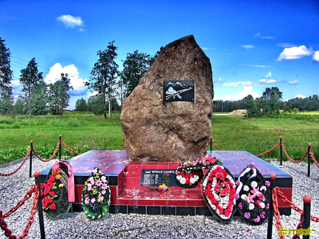 Памятник Воинам Интернационалистам в г.Сланцы, Сланцы