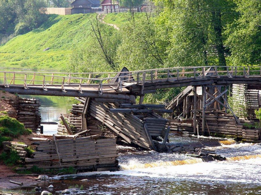 Гибель Шлюза (безхозяйственность)(The destroyed gateway), Тихвин