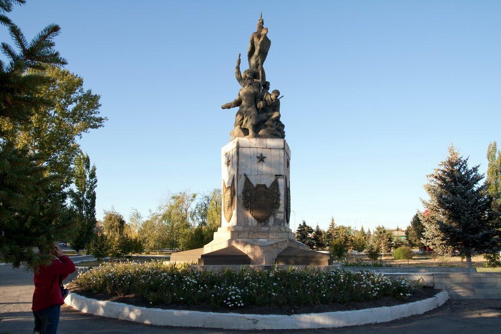 Памятник героям Гражданской войны в г. Пугачеве, Пугачев