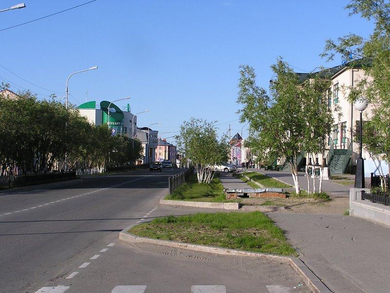 Salekhard: Street of Republic, Салехард