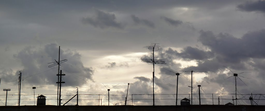 Муравленко июль 2012 облака, Муравленко