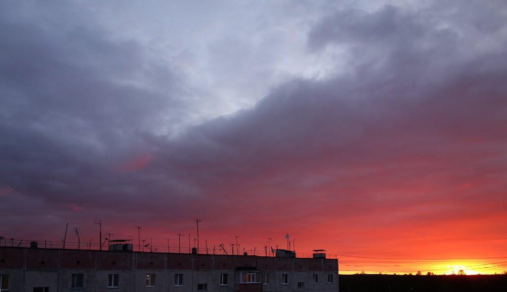 Муравленко июль 2013 закат, Муравленко