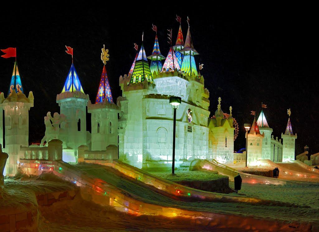 Ледовый городок - 2012. Ice small town - 2012., Губкинский