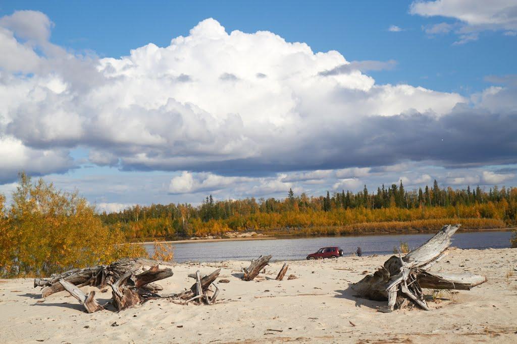песчанный пляж, Губкинский