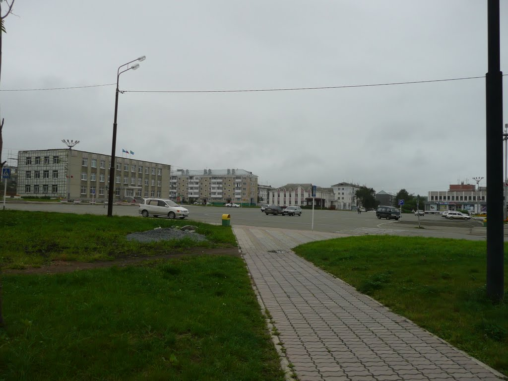 Центральная площадь. Долинск, Долинск