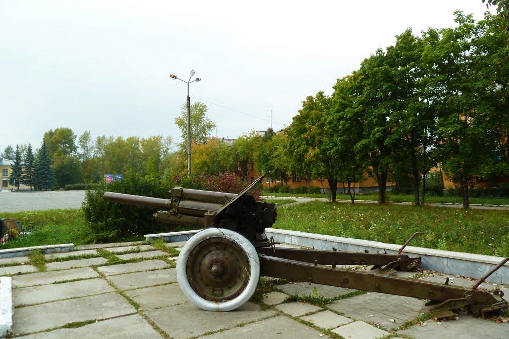 Верхний Тагил. Пушка у памятника ВОВ., Верхний Тагил