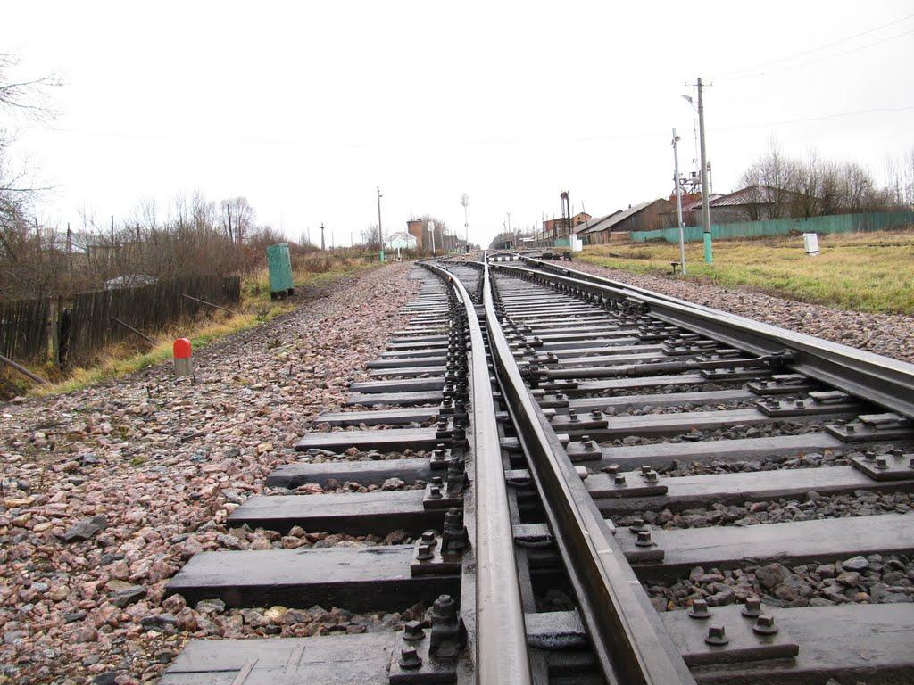 Рельсы в сторону вокзала, Новодугино