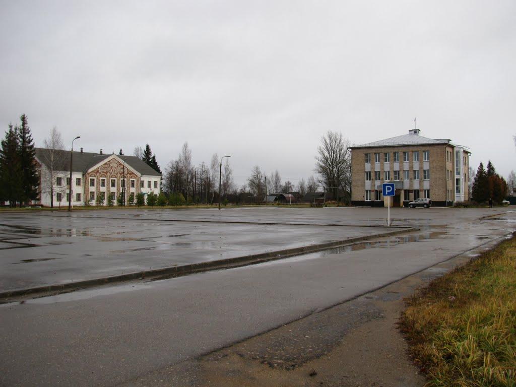 Главная площадь, администрация города, Новодугино