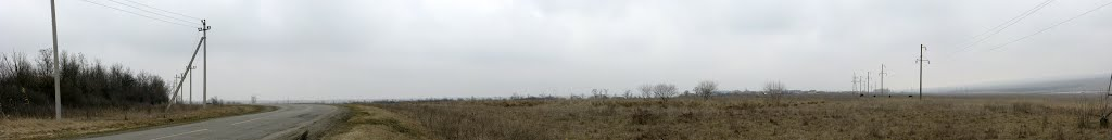 Панорама. Южный выезд из Курсавки. Вид на Курсавку, Курсавка