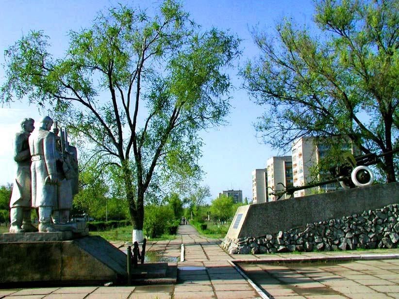 """""""Пушка"""", памятник воинам, Нефтекумск"""